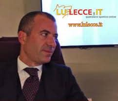Il presidente dell'US Lecce, Saverio Sticchi Damiani